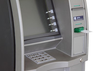 ATM With Anti-skimmer And White Plastic Card