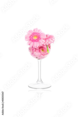 Papiers peints Marguerites Flowers in a glass