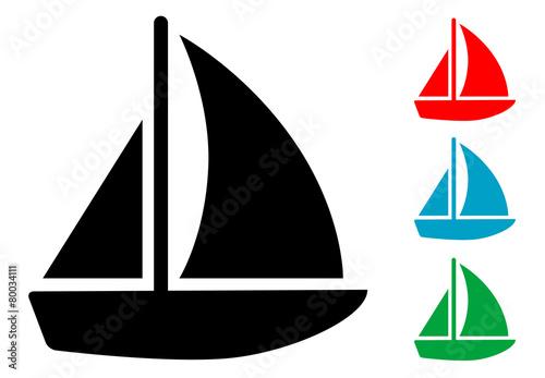 Fotografia  Pictograma barco velero en varios colores