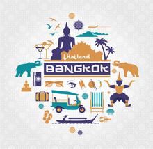 Vector Set Of Bangkok - Thailand