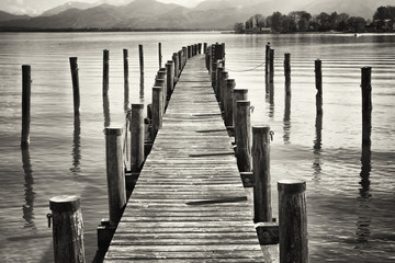 Fototapeta old wooden jetty