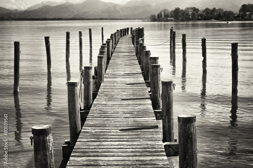 old wooden jetty #80039561