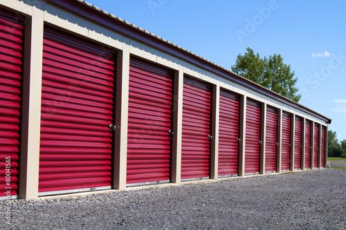 Fototapeta Mini Self Storage Rental Units obraz