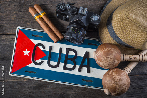 Background related to Cuba culture Wallpaper Mural