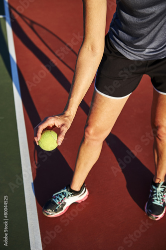 Photo  playing tennis