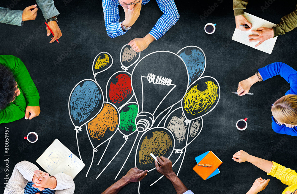 Fototapety, obrazy: Ideas Thinking Concept Inspiration Creativity Concept