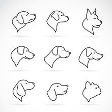 Vector Image Of An Dog Head On...