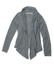 Fashionable Gray Wool Cardigan.