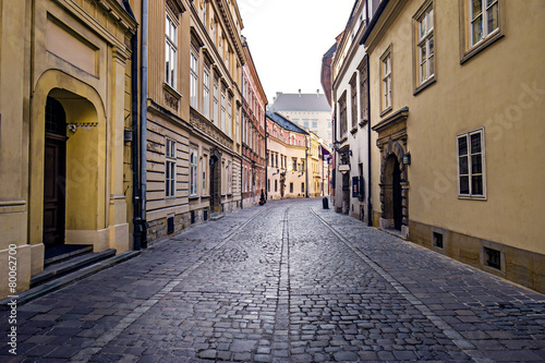 obraz PCV Ulica w starego miasta w Krakowie