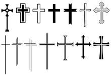 Set: Kreuz, Kruzifix, Vektor, ...