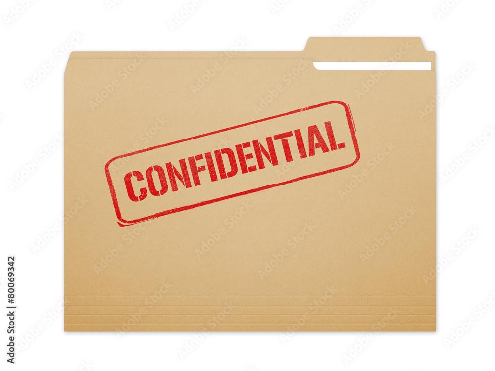 Fototapeta Confidential Folder