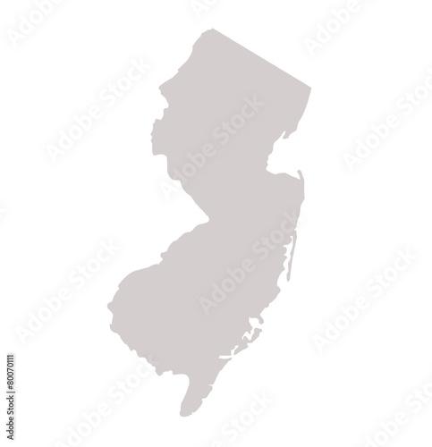 Photo  New Jersey State map