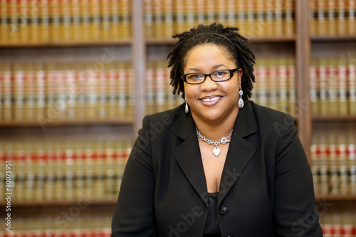 Young attractive African American Female Lawyer Wallpaper Mural