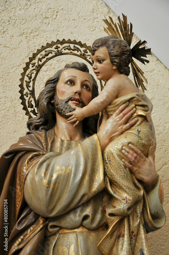 Cuadros en Lienzo Sanit Joseph with Child Jesus