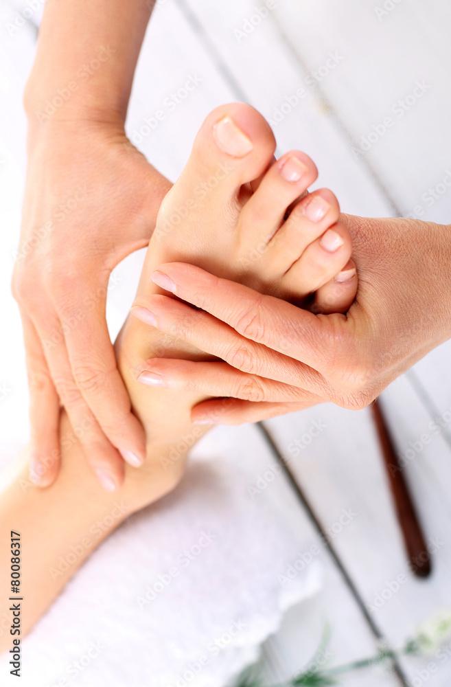 Fototapeta Relaksacyjny tajski masaż stóp