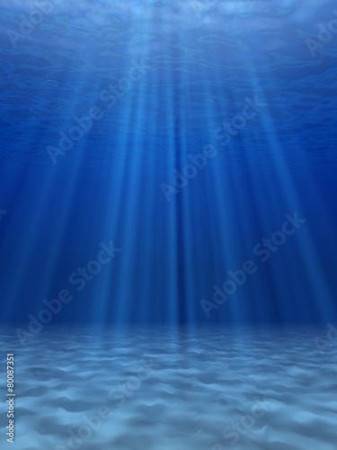 Staande foto Zee / Oceaan Blue sea underwater.