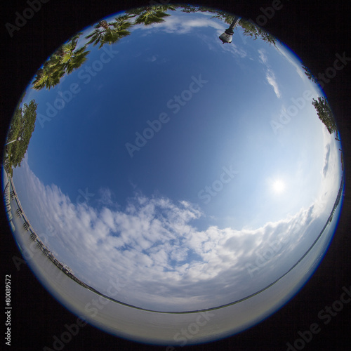 Fotografie, Obraz  360 degree fisheye view of south carolina