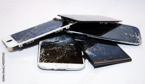 Fényképezés  Smartphone Displayschaden Display kaputt