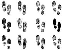 Various Black Prints Of Shoes,...