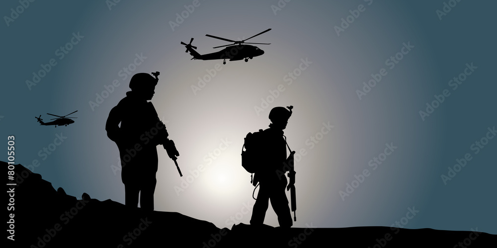 Fototapeta Silhouette Guerre