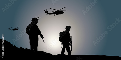 Fotomural Silhouette Guerre