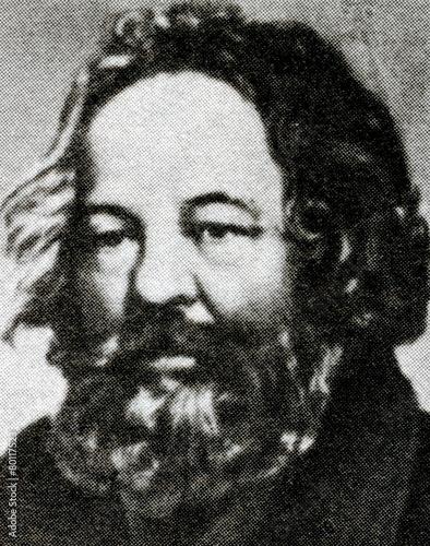 Mikhail Bakunin, Russian revolutionary anarchist Canvas Print