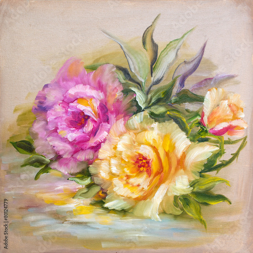 rozowe-i-zolte-roze-vinage