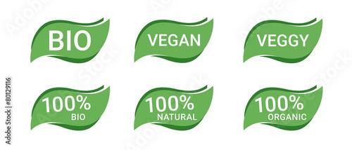 Fotografiet  Icon Button Bio Vegan Vegetarisch