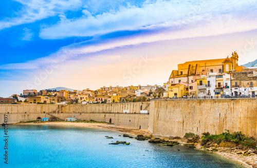 Foto op Canvas Europa Sicily,Castellammare del Golfo panoramic view of harbor,Trapani.