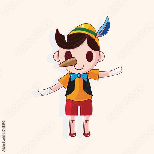 Carta da parati Pinocchio theme elements