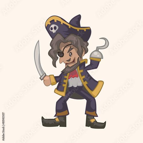 Fotobehang Piraten pirate theme elements