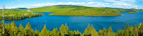 Foto op Canvas Canada lake of sacacomie in quebec canada