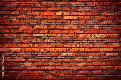 Foto op Plexiglas Wand Old grunge brick wall background