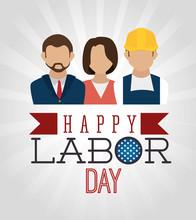 Labor Day Card Design, Vector ...