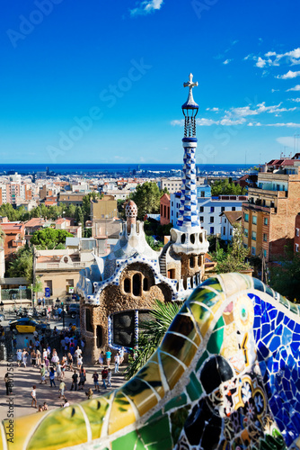 Park Guell in Barcelona, Spain (built 1900-1914)