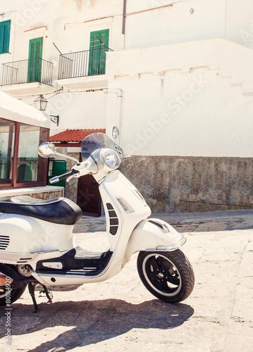 Foto op Canvas Scooter Italian street