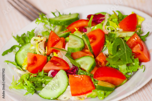 Fototapety, obrazy: fresh vegetables salad