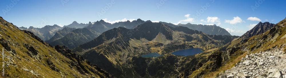 Fototapety, obrazy: Tatra Mountains - View from Krzyzne Pass