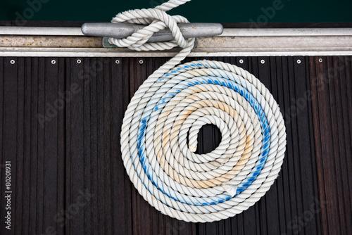 Photo Nautical mooring rope