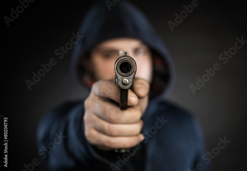 Fotografia killer with gun