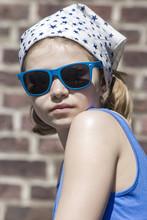 Portrait Of A Cute Little Girl...