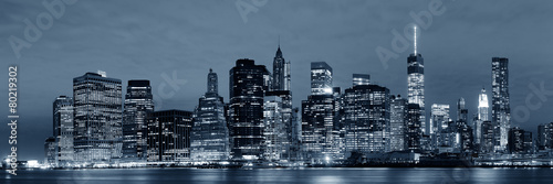 Manhattan at night #80219302