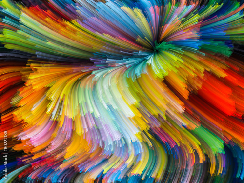 Fototapeta Dance of Color obraz na płótnie