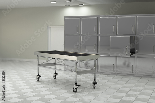 autopsy room Canvas Print
