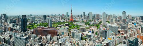 Spoed Foto op Canvas Tokio Tokyo Skyline