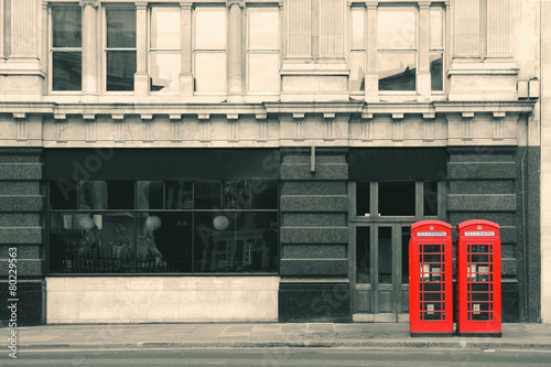 Fotografie, Obraz  Red telephone booth