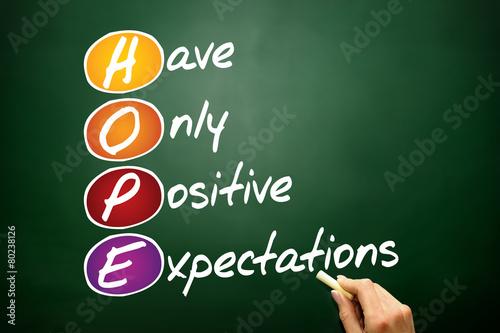 Fotografie, Tablou  HOPE, business concept on blackboard
