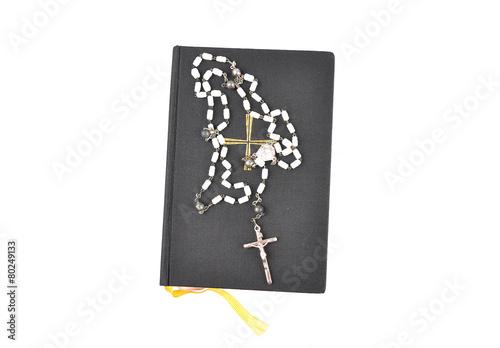 Fényképezés  Gebetbuch mit Rosenkranz