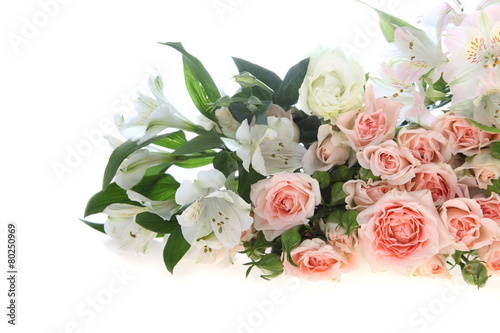 Wall Murals Floral Bouquet of pink and white flowers