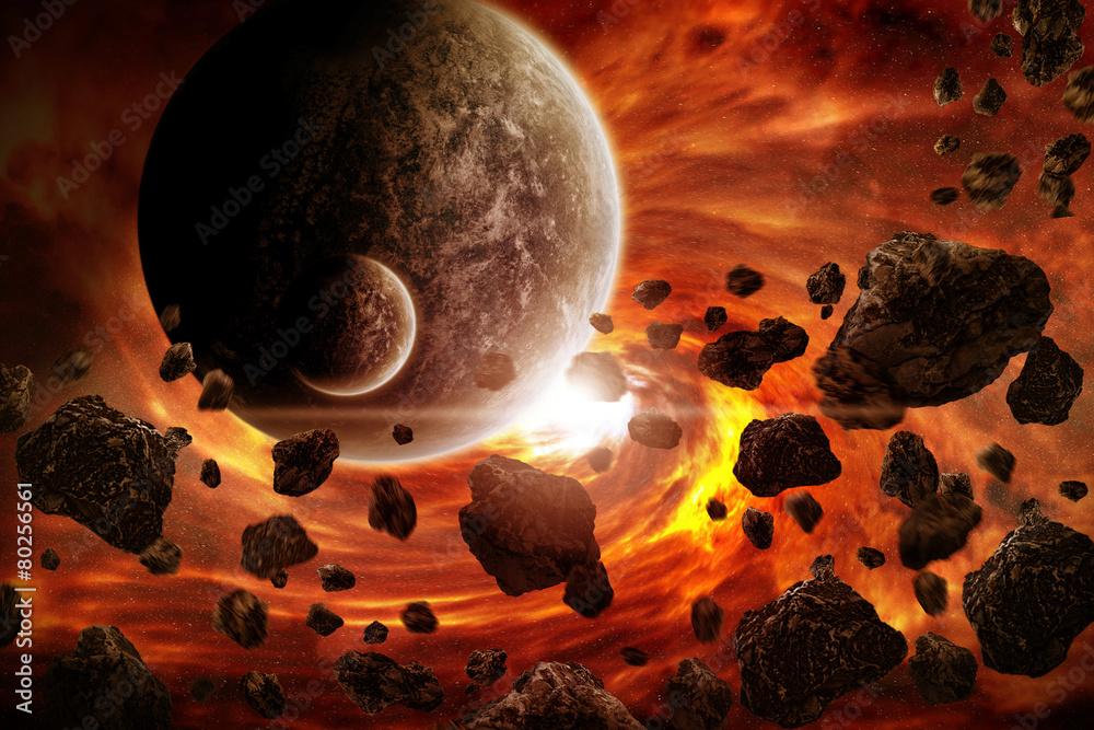 Fototapety, obrazy: Apokalipsa wybuchu planety